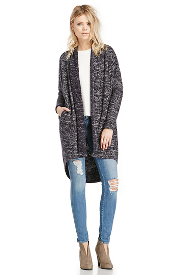 Long Heathered Cardigan Slide 1