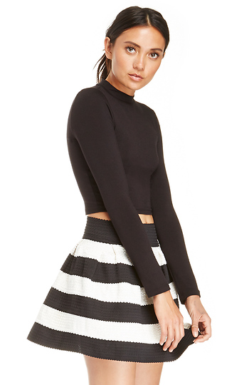 DAILYLOOK Striped Bandage Bell Skirt Slide 1
