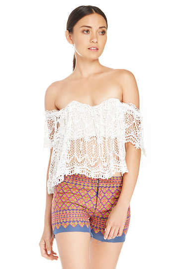 Stone Cold Fox Lace Tube Top Slide 1