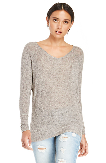 Dolman Sleeve Knit Top Slide 1