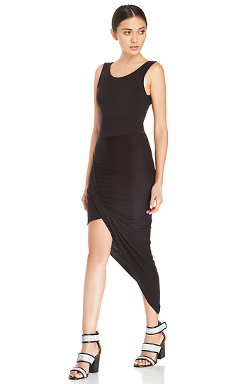 DAILYLOOK Twisted High Low Dress Slide 1