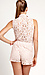 Collared Lace Romper Thumb 3
