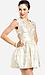 Foiled Filigree Cutout Dress Thumb 2