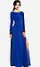 Line & Dot Deep Slit Maxi Dress Thumb 1