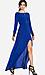 Line & Dot Deep Slit Maxi Dress Thumb 2