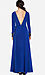 Line & Dot Deep Slit Maxi Dress Thumb 3