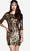 Sequined Baroque Bodycon Dress Thumb 1