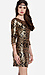 Sequined Baroque Bodycon Dress Thumb 3