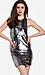 Line & Dot Mirror Sequin Halter Dress Thumb 1