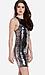 Line & Dot Mirror Sequin Halter Dress Thumb 3