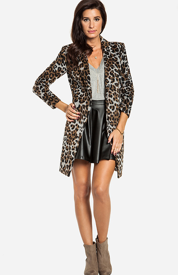 BB Dakota Hazel Leopard Coat Slide 1