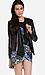 Line & Dot Matte Sequin Draped Jacket Thumb 2