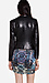 Line & Dot Matte Sequin Draped Jacket Thumb 3