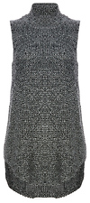 Minkpink Mock Neck High Low Sleeveless Sweater