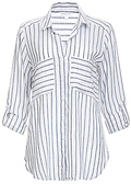Ayla Striped Button Down Top