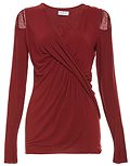 Bailey 44 Twist Front Long Sleeve V-Neck Top