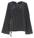 Long Sleeve Striped Bell Sleeve Top