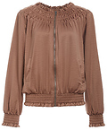 Silky Ruched Bomber Jacket