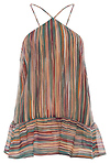 Multi Colored Stripe Halter Tank