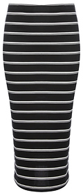 Midi Striped Pencil Skirt