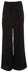 Self-Tie Waist Wide Leg Polka Dot Pants