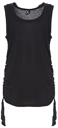 Drapey Rayon Tank Top with Shirred Sides