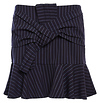 Front Knot Pinstripe Skirt