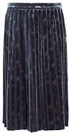Stars Pleated Velvet Skirt