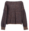 French Connection Speckled Striped Sweater