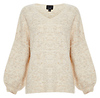 Dropped Shoulder V-Neck Heather Sweater