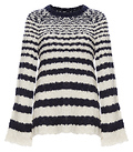 Velvet by Graham & Spencer Striped Flare Sleeves Sweater