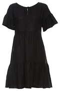 Velvet by Graham & Spencer Paneled Ruffle Linen Dress