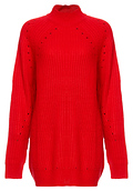 Vero Moda High Neck Ribbed Long Sweater