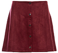 Jack by BB Dakota Snap Front Faux Suede Skirt
