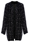 Renee C Basket Weave Knitted Long Jacket