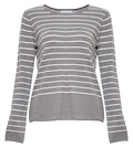 Kristina Striped Crew Neck Knit Top