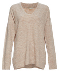 Mystree V-Neck Dropped Shoulder Sweater