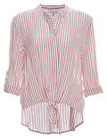 Erika Striped Front Knot Long Sleeve