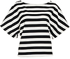 Drop Sleeve Bold Striped Top