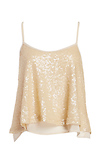 J.O.A. Sequin Spaghetti Strap Crop Top