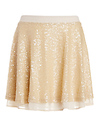 J.O.A.Sequin Ruffle Skirt