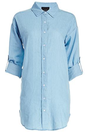 Jane Chambray Shirt Dress Slide 1