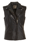 MUUBAA Limited Lynn Sleeveless Leather Biker Vest