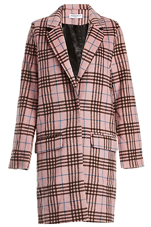 Glamorous Plaid Checked Longline Coat Slide 1