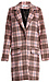 Glamorous Plaid Checked Longline Coat Thumb 1