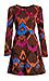 Harlyn Chevron Fit & Flare Dress Thumb 1