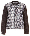 Maison Scotch Lace Relaxed Fit Bomber Jacket