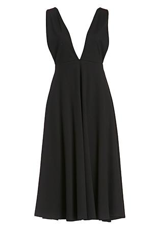 DAILYLOOK Plunging Midi Dress Slide 1