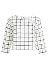 J.O.A. Two Front Pocket Grid Crop Top
