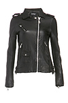 DOMA Multi Coin Pockets Leather Moto Jacket
